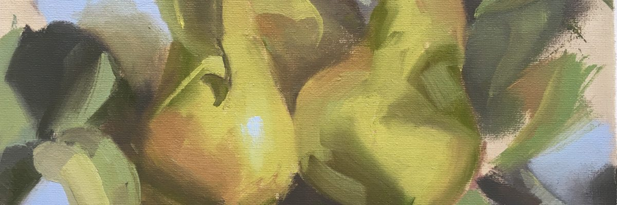 TinaCollins-Pears-Oil-on-Linen-Peartree-2018-10x8in-£140