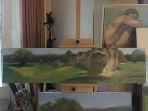 Plein-Air-Waverley-Abbey-2018-WIP